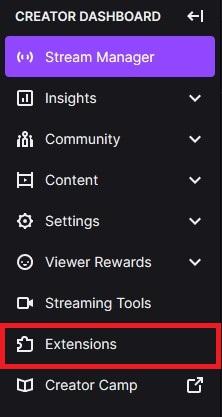 Creator Dashboard Extension