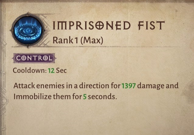 Imprisoned Fist