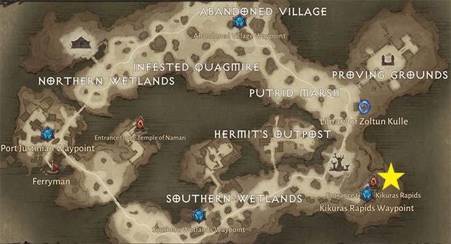 Kikuras Rapids Map