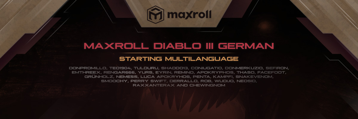 Multilanguage for Diablo 3