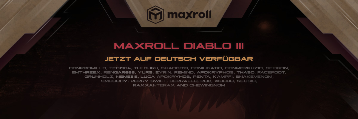 Maxroll Diablo 3 - Deutsche BETA